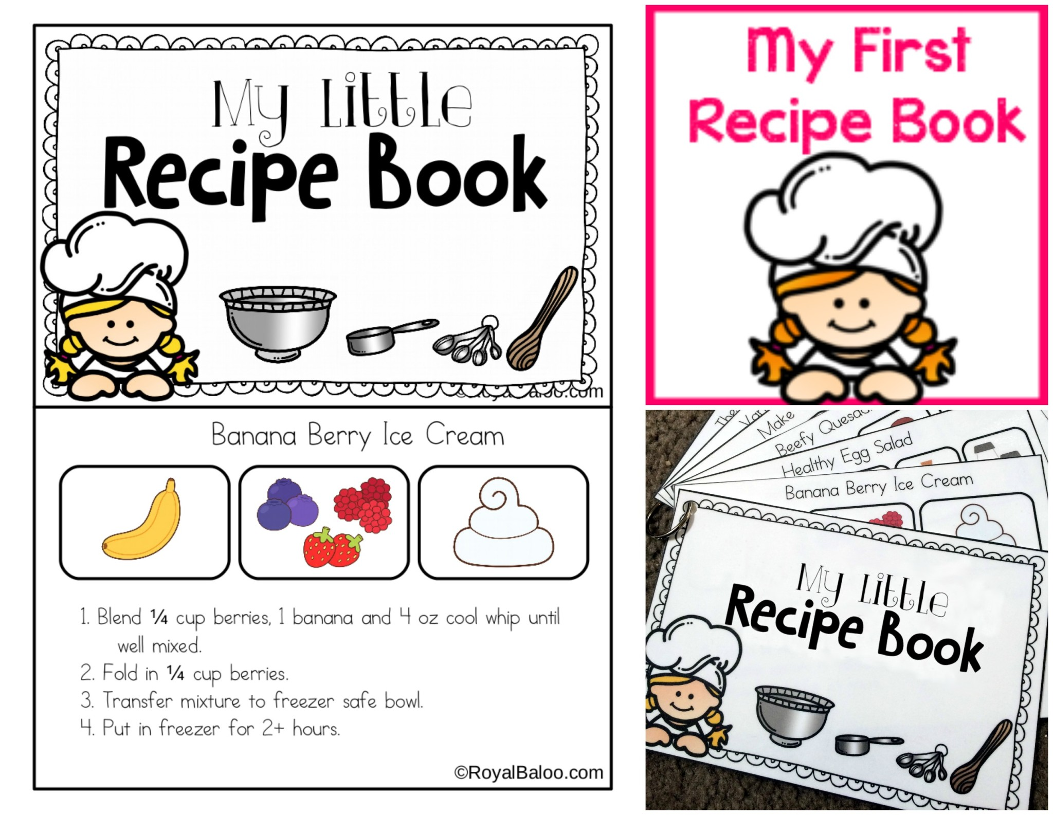 My First Recipe Book Printable For Charity Royal Baloo