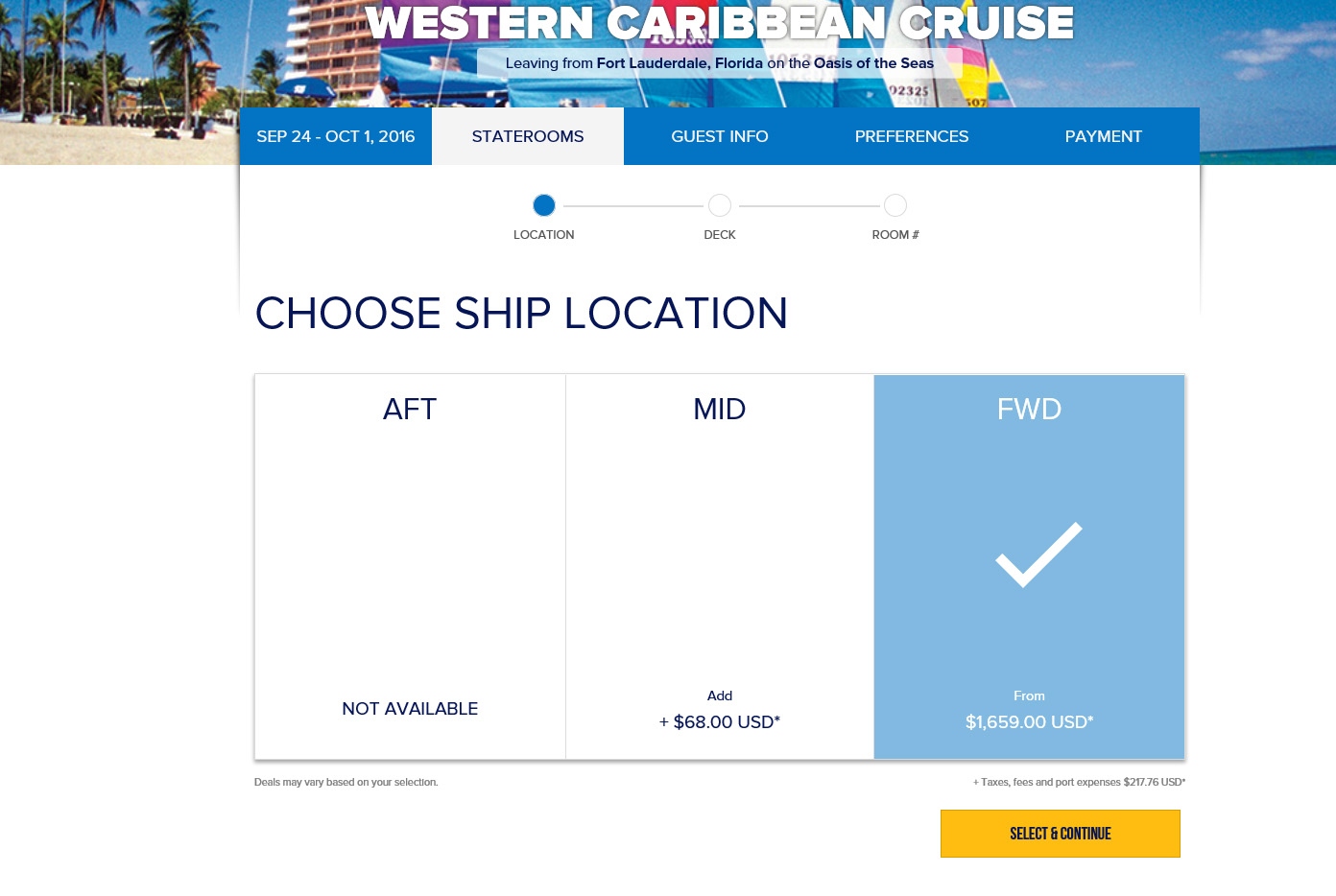 Booking Site Royal Caribbean Updates Booking Site With Feature To Find
