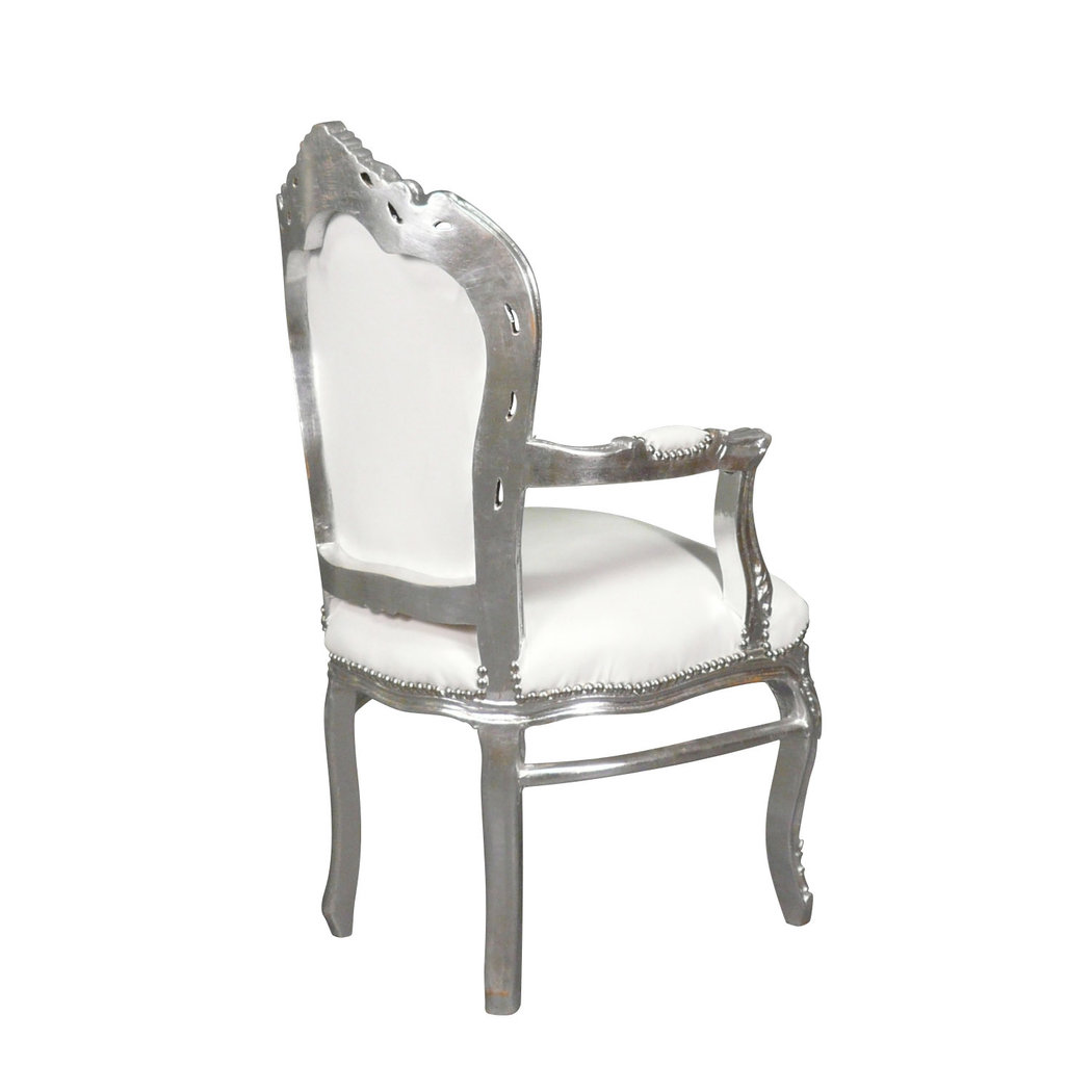 Chaises Baroque Conforama Fauteuil Baroque Blanc Et Argent With Chaise Baroque