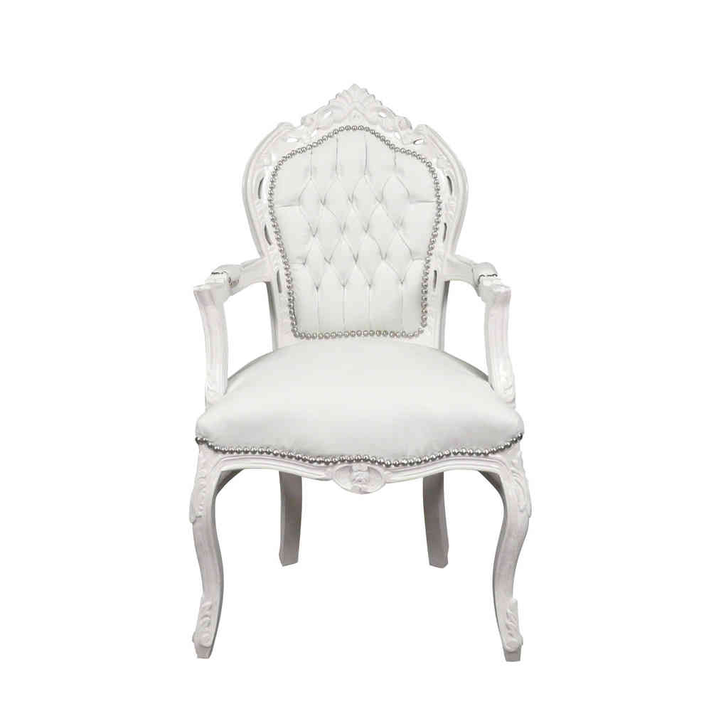 Fauteuils Tiffany Fauteuil Baroque Blanc Chaises Baroques