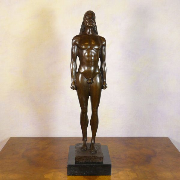 Salon De Jardin Artelia Kouros - Bronze Reproduction Of A Greek Statue Of Kouroi