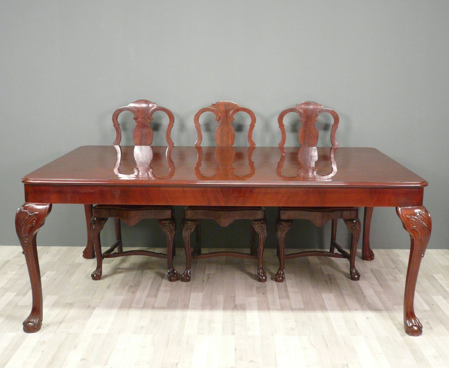 Fauteuils Chippendale Table Chippendale Set Complet