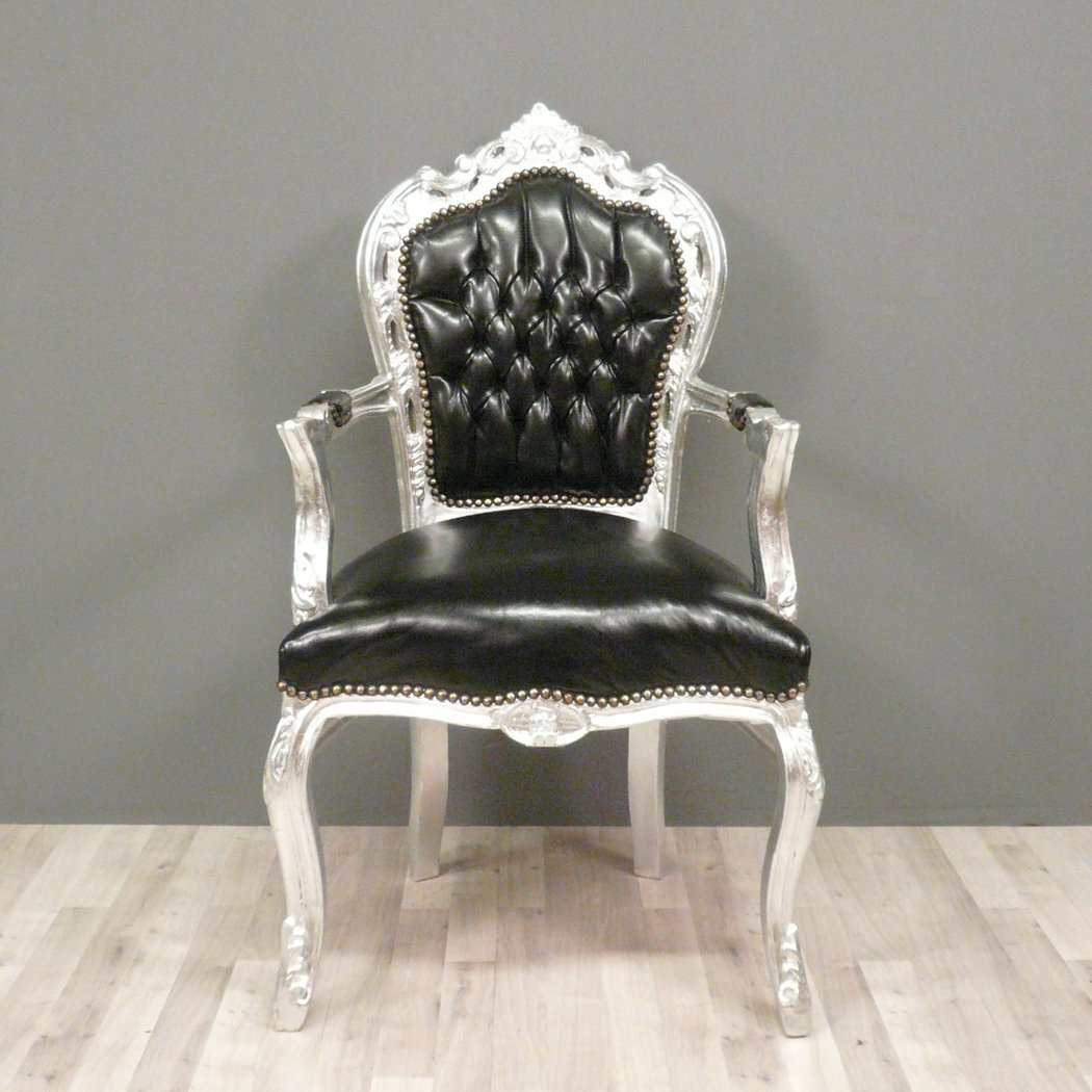 Fauteuils Tiffany Baroque Armchair Black And Silver Chair Tiffany Lamp
