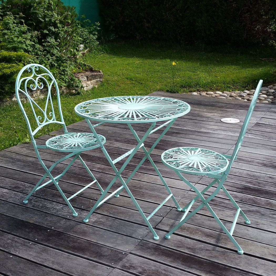 Table Bistrot Fer Forgé Salon De Jardin En Fer Forgé Set De Bistrot Table Chaise