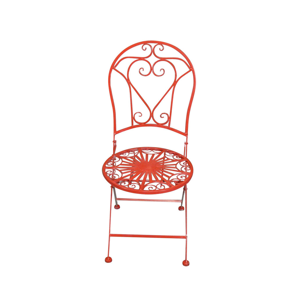 Chaise En Fer Forgé De Jardin Salon De Jardin En Fer Forgé Rouge Table Chaise Banc