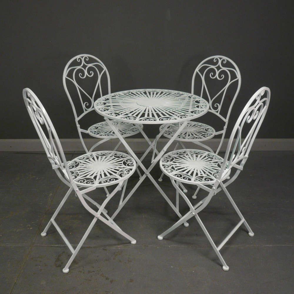 Mobilier De Jardin En Fer Forgé | Chaises Et Tables Ferronnerie D ...