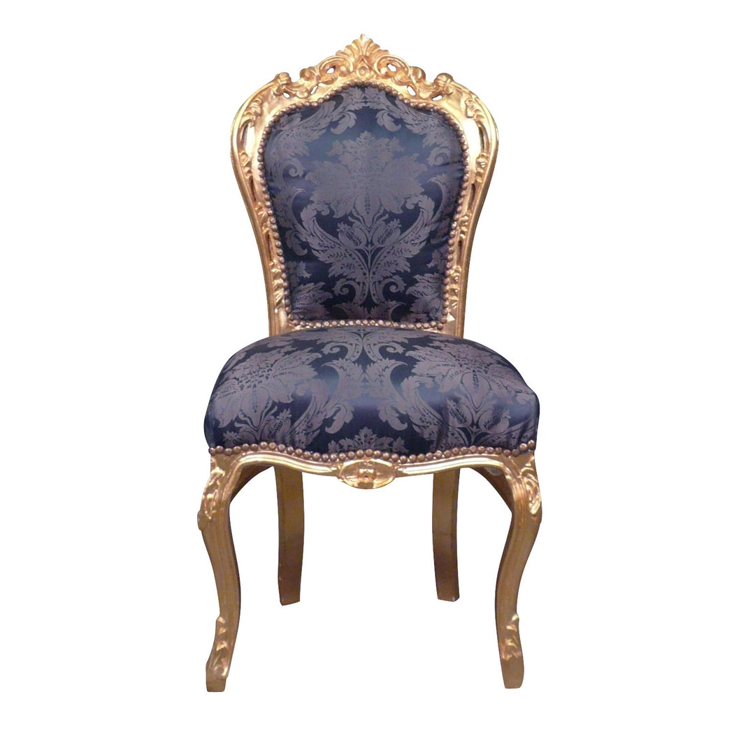 Chaises Baroque Chaise Baroque Bleue Style Rococo