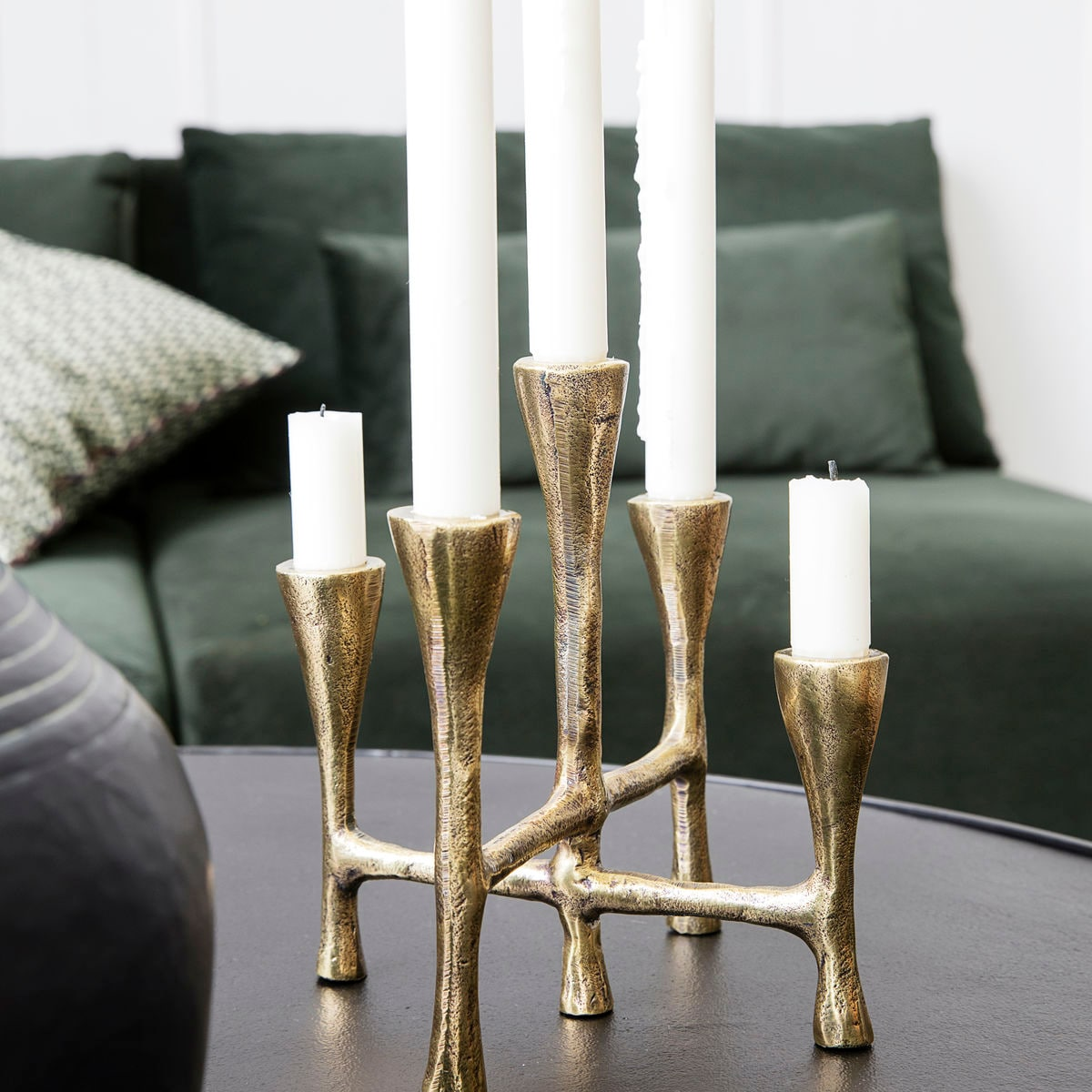 House Doctor Interior Tristy Candle Stand Brass