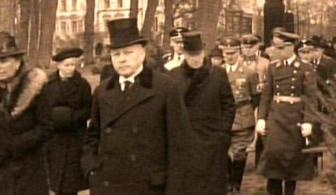 Some of the senior Nazi officers seen attending the funeral in Nazi Germany of Sir Henri Deterding.