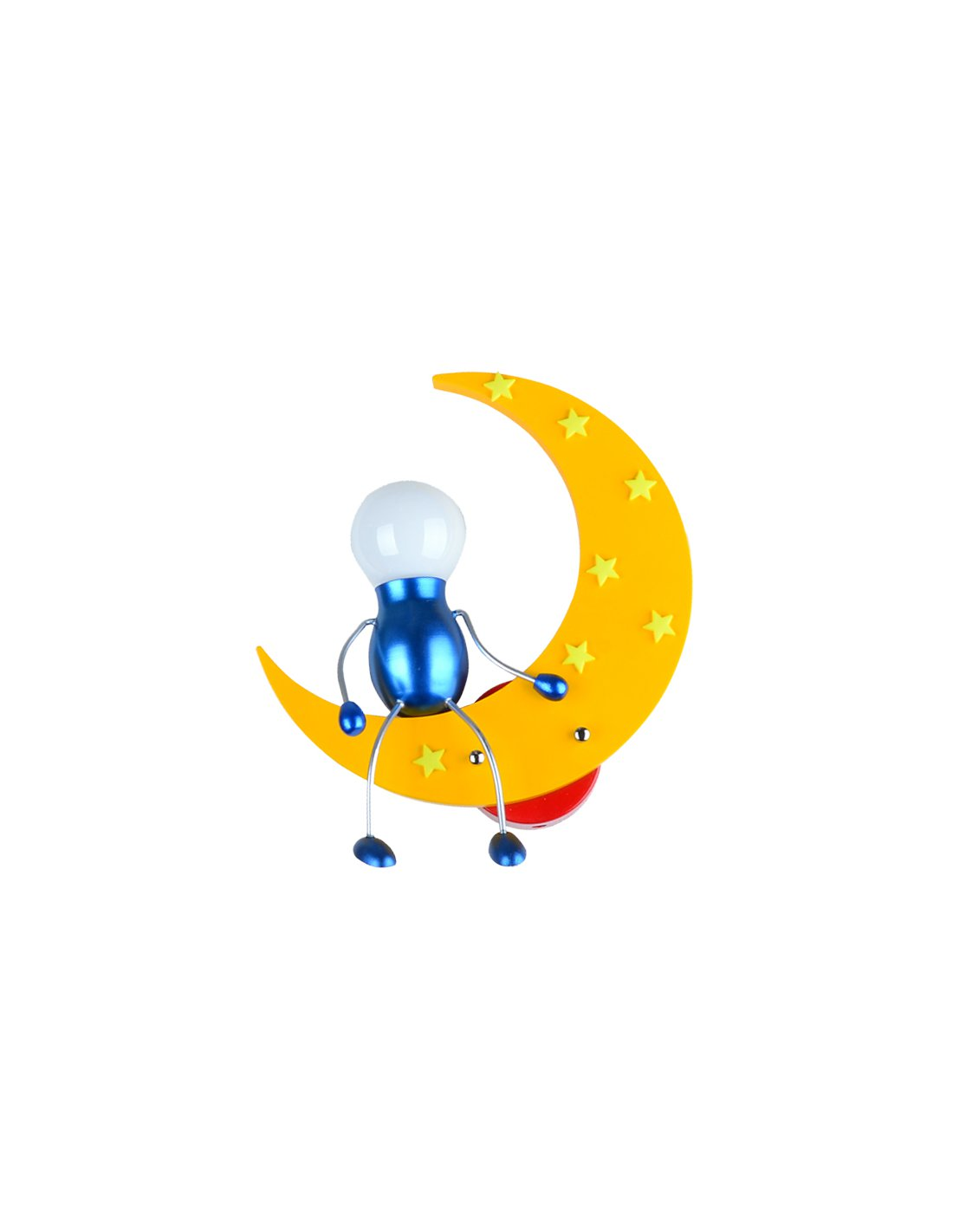 Appliques Murales Enfant Wall Lamp Child In Shape Of Moon Unideco Y Yellow