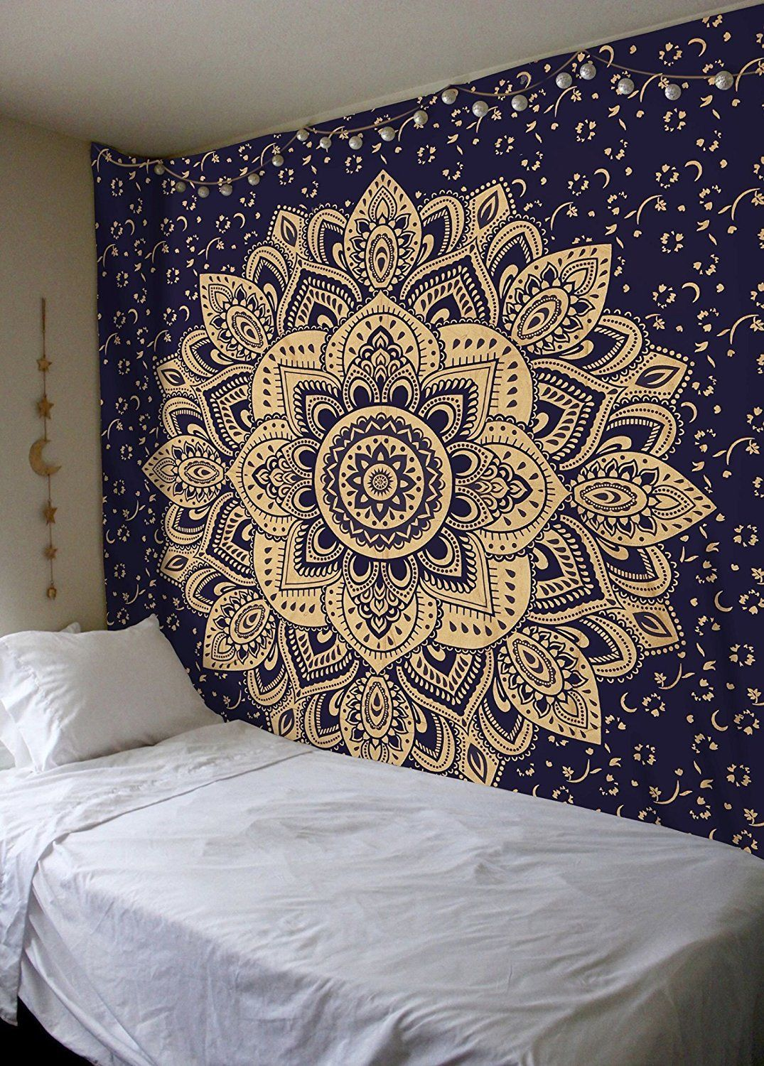 Ikea Kids Rugs Blue & Gold Passion Ombre Boho Mandala Tapestry Wall