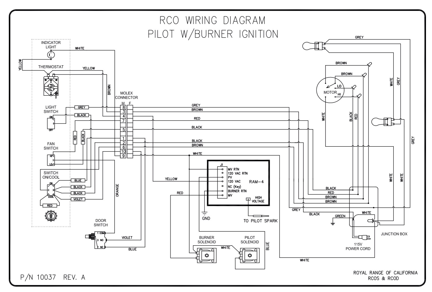 wood stove wiring diagram