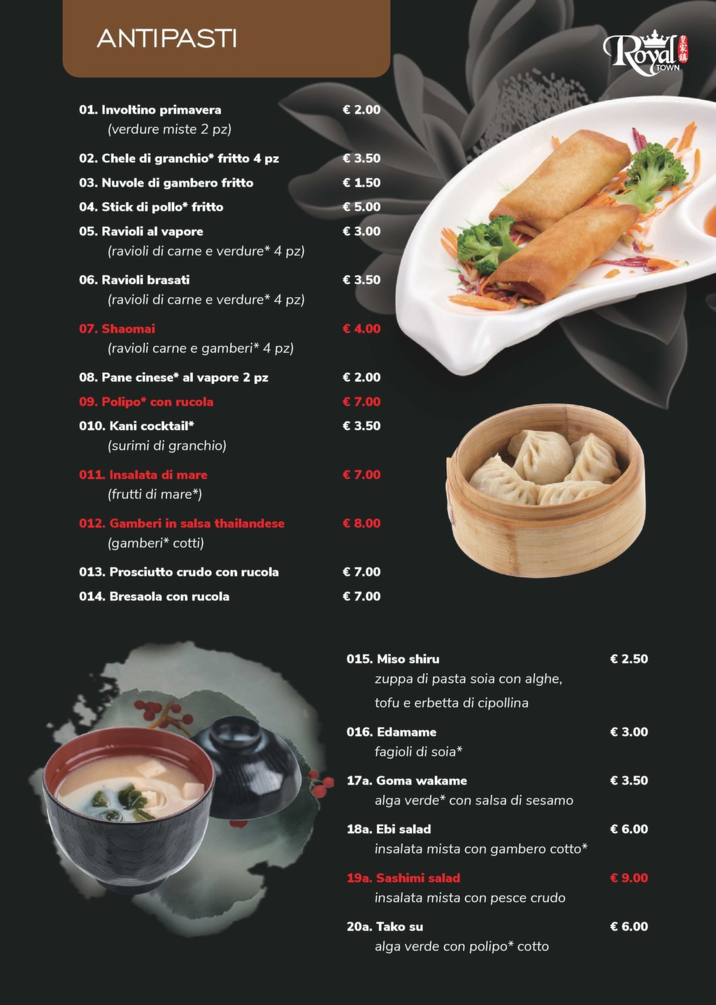 Cucina Giapponese Pdf Sushi All You Can Eat E Menu Alla Carta Royaltown