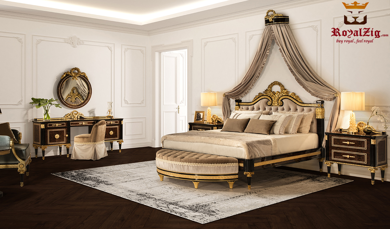 Bed And Bedroom Wooden Furniture Set Online India