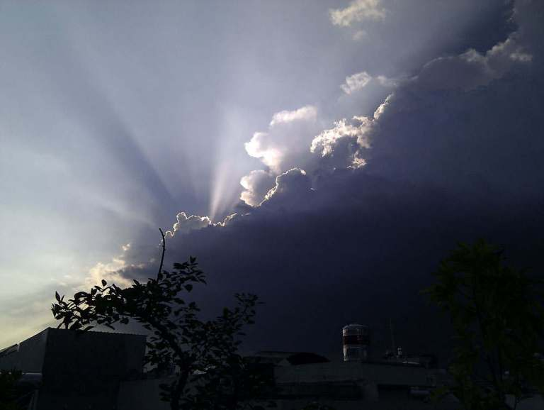 late afternoon storm clouds