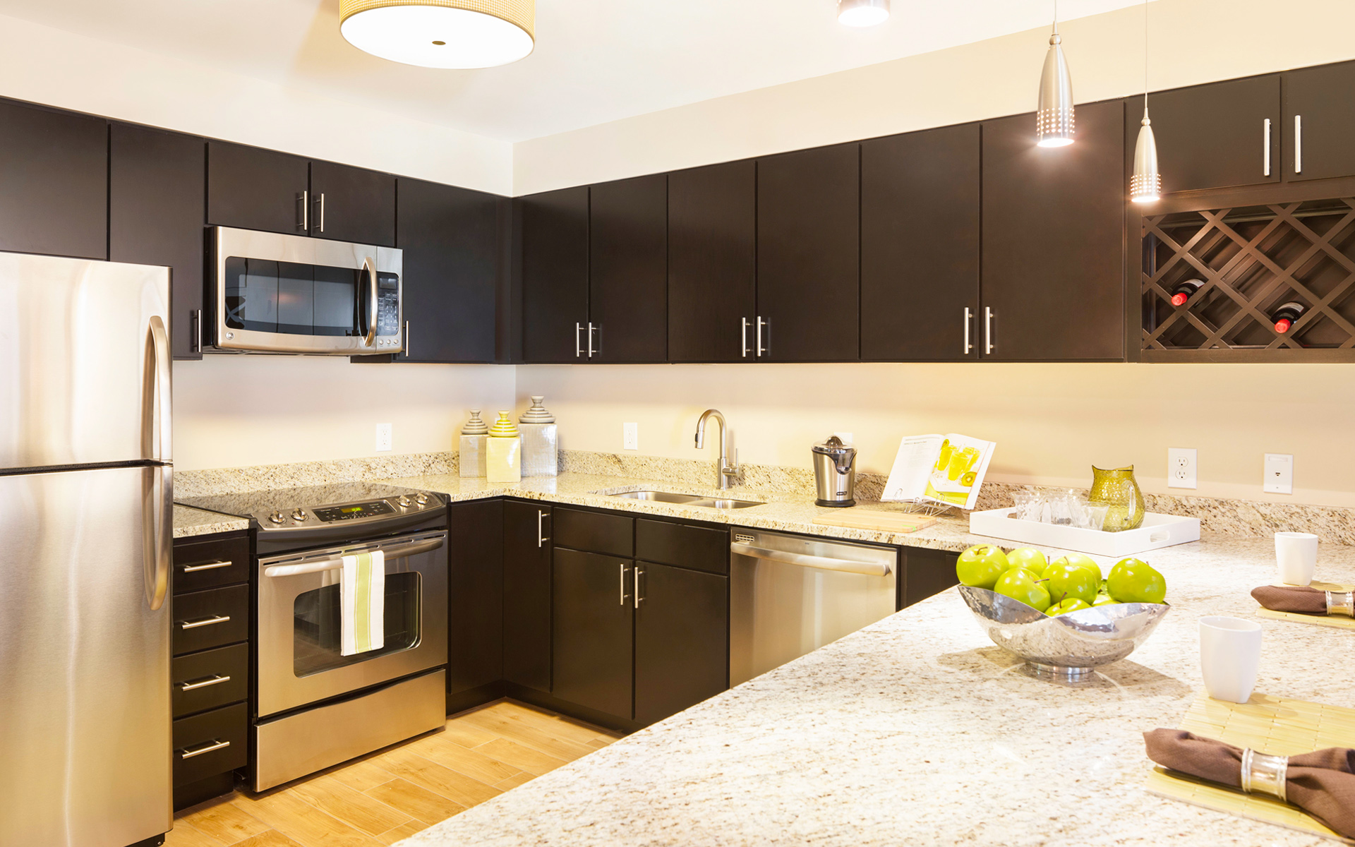 Coffee Color Kitchen Cabinets Be Brave To Apply Espresso Kitchen Cabinets With Granite