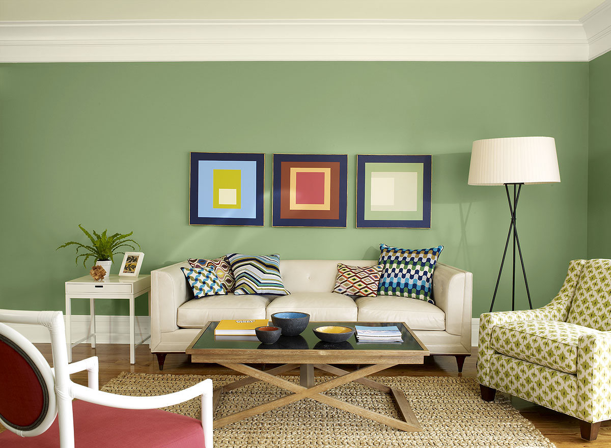 Wohnzimmer Mit Grüner Wand Best Paint Color For Living Room Ideas To Decorate Living