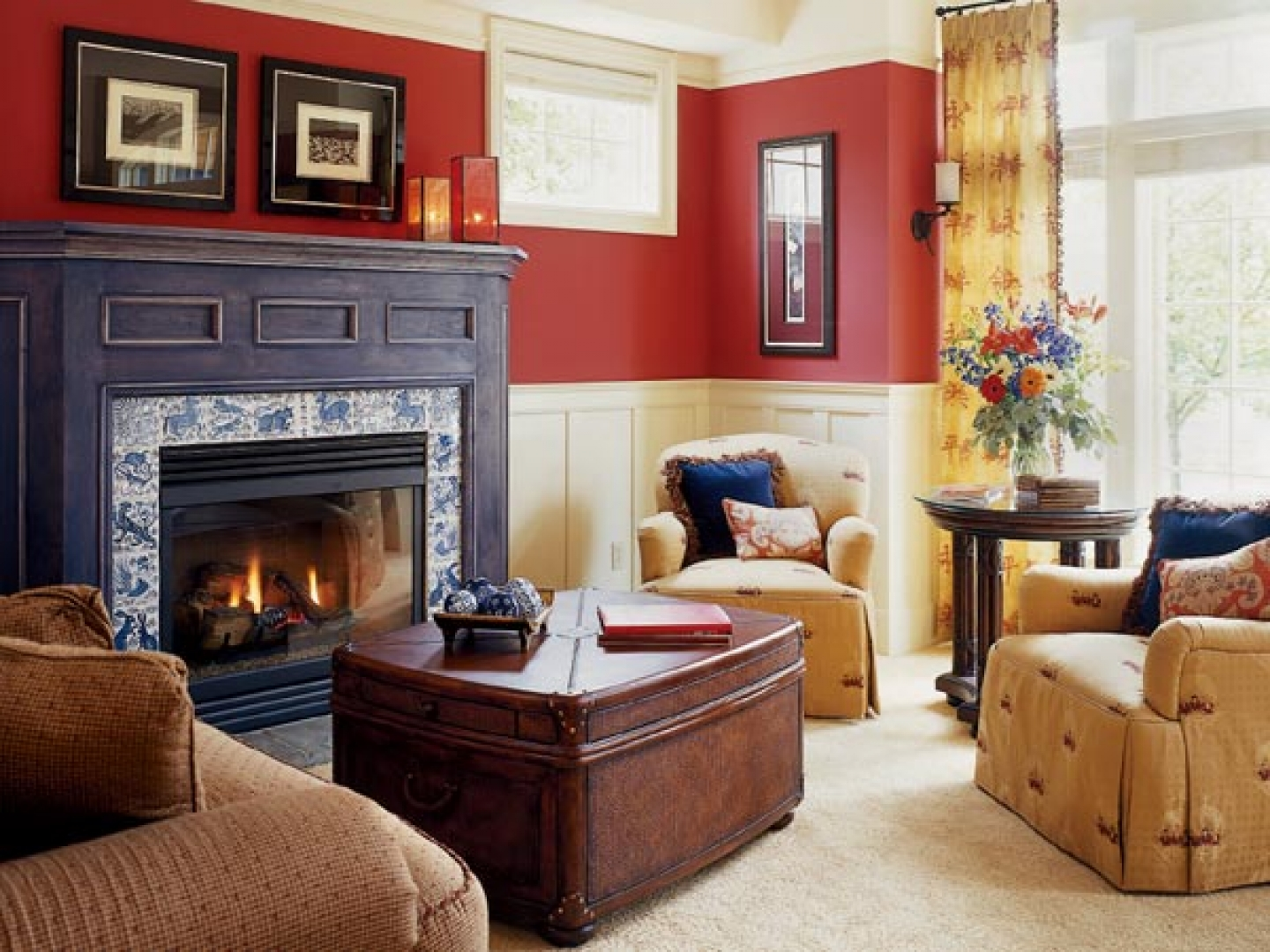 Red Wall Living Room Red Living Room Ideas To Decorate Modern Living Room Sets