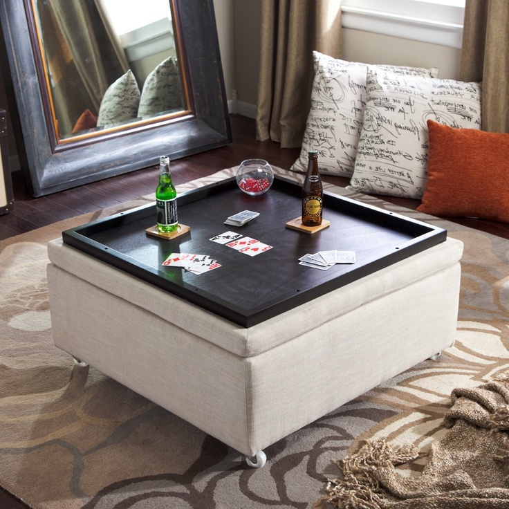 Square Ottoman Coffee Table Cushion Coffee Table With Storage Furniture | Roy Home Design