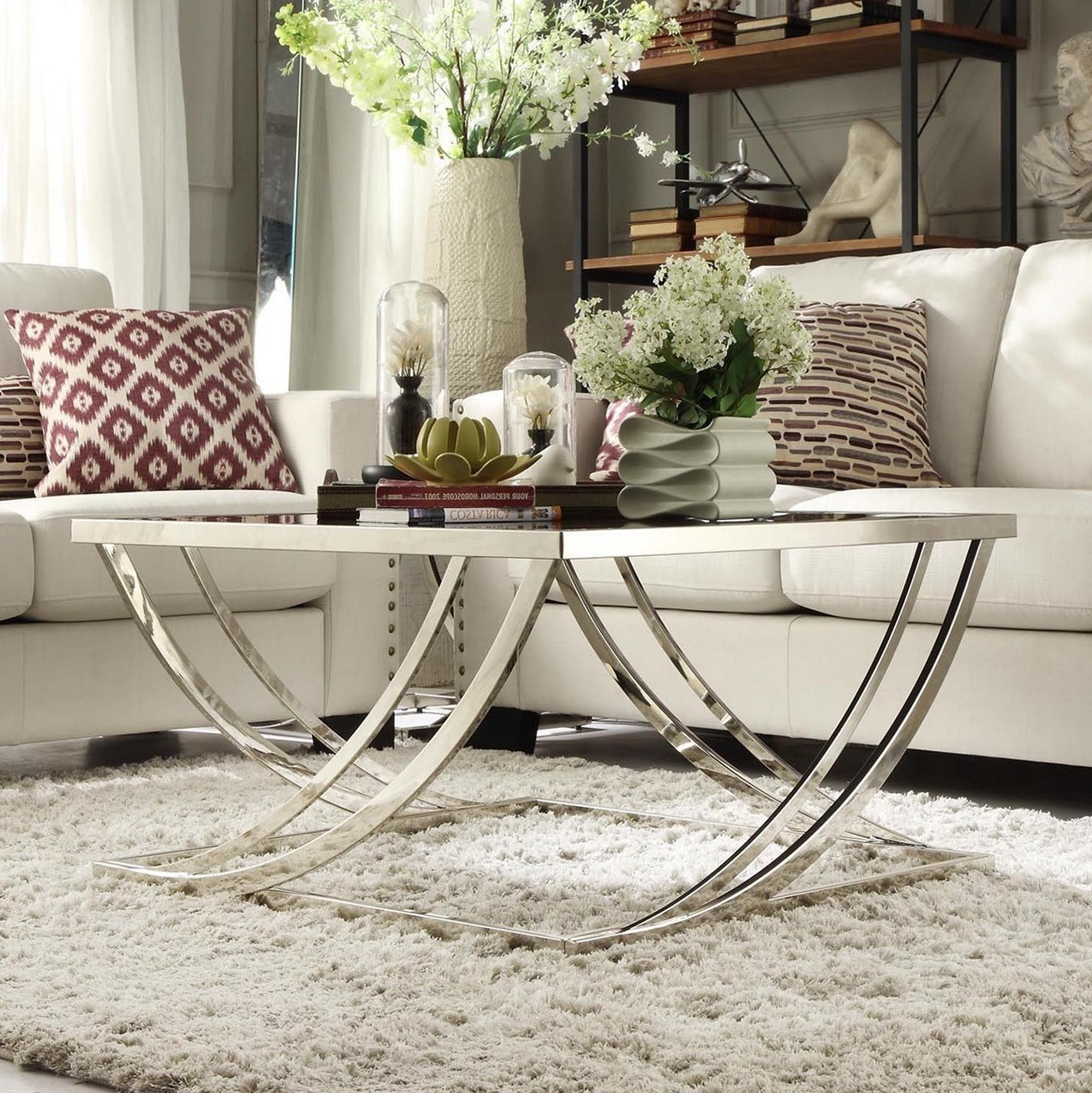 Couchtisch Nickel Glas Brushed Nickel Coffee Table Legs | Roy Home Design