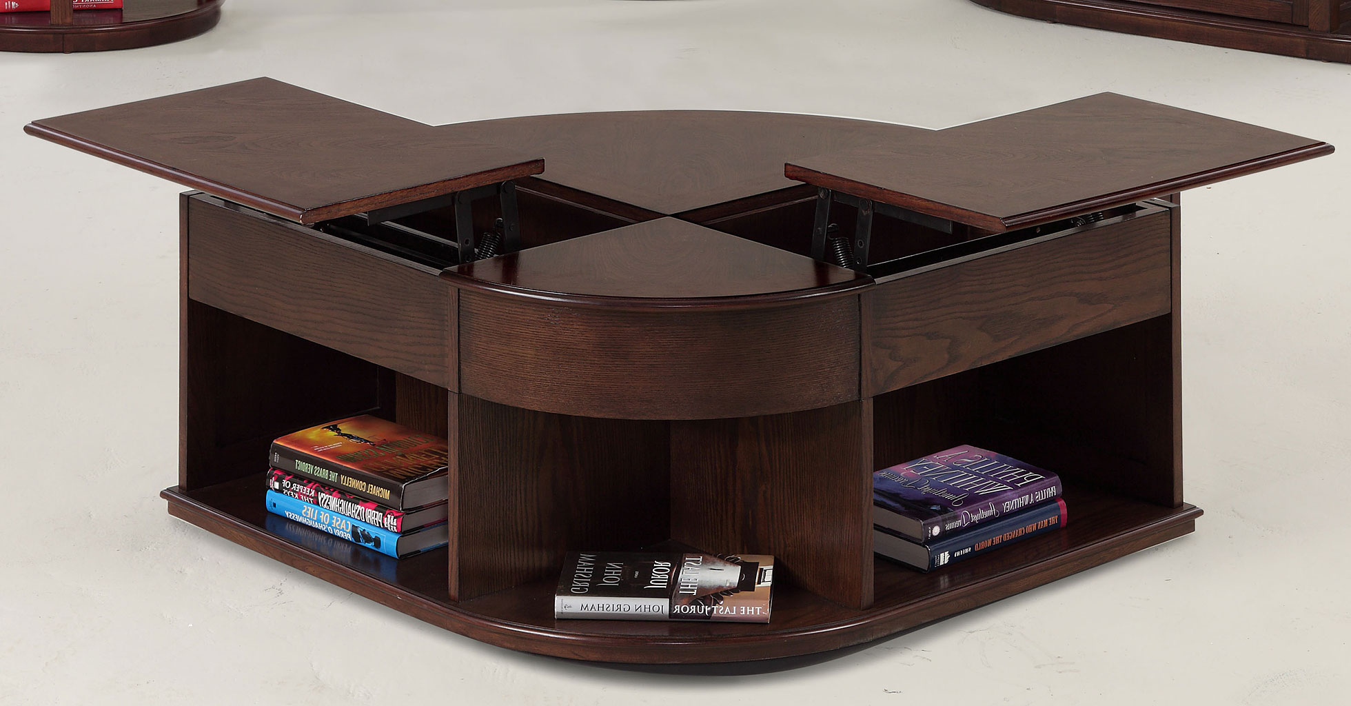 Top Lift Coffee Table Double Lift Top Coffee Table In Regal Walnut Roy Home Design