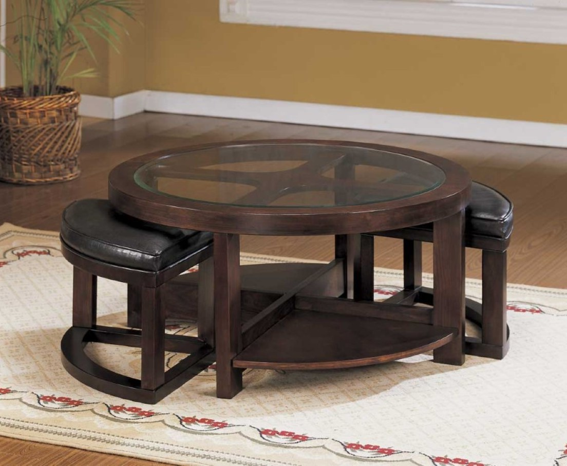 Coffee Table With Seating Underneath Round Coffee Table With Seats Underneath Roy Home Design