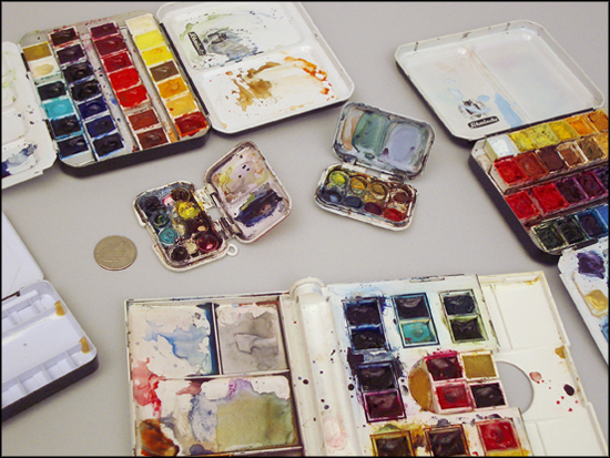 Travel Palettes for Watercolor and Gouache \u2013 RozWoundUp