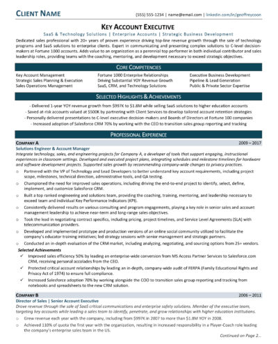 Samples \u2013 RP Career - long resume solutions