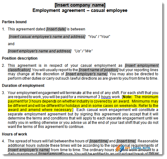Individual Flexibility Employment Agreement Contract Employment Wikipedia  Employee Contract Agreement Template Bestsellerbookdb