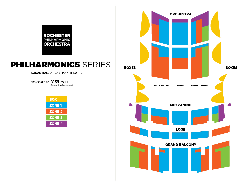 Seating Charts - Rochester Philharmonic Orchestra