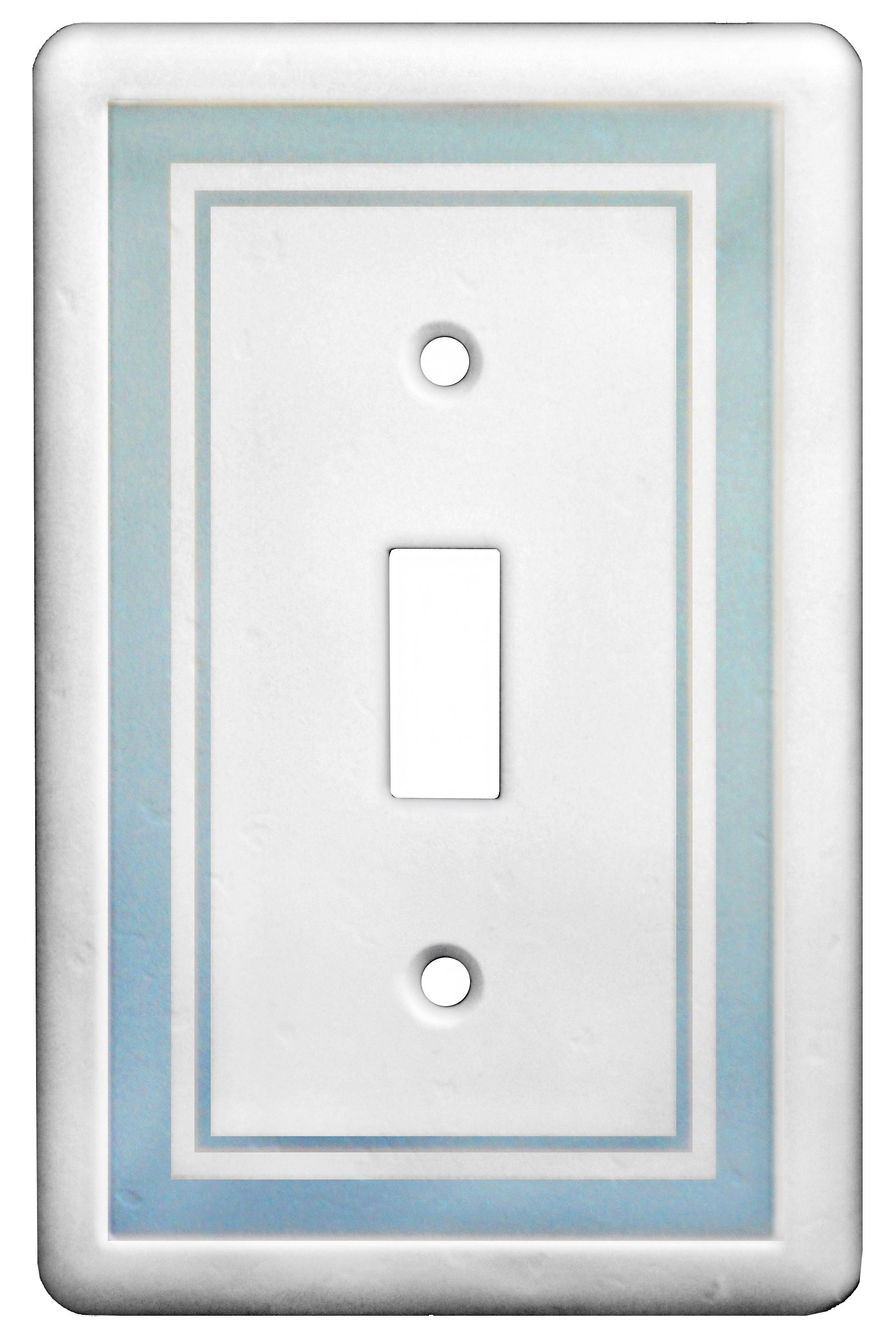 Cool Blue Paint Single Toggle Color Accents Wall Plate Cool Blue
