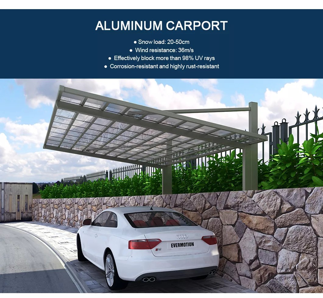 Karpot Outdoor Polycarbonate Aluminum M Style Carport For Car Garage - Buy Outdoor Carport, M Style Carport, Car Garage Carport Product On Aluminum Pergola-alunotec