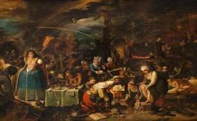 Reunón de supuestas brujas y herejes