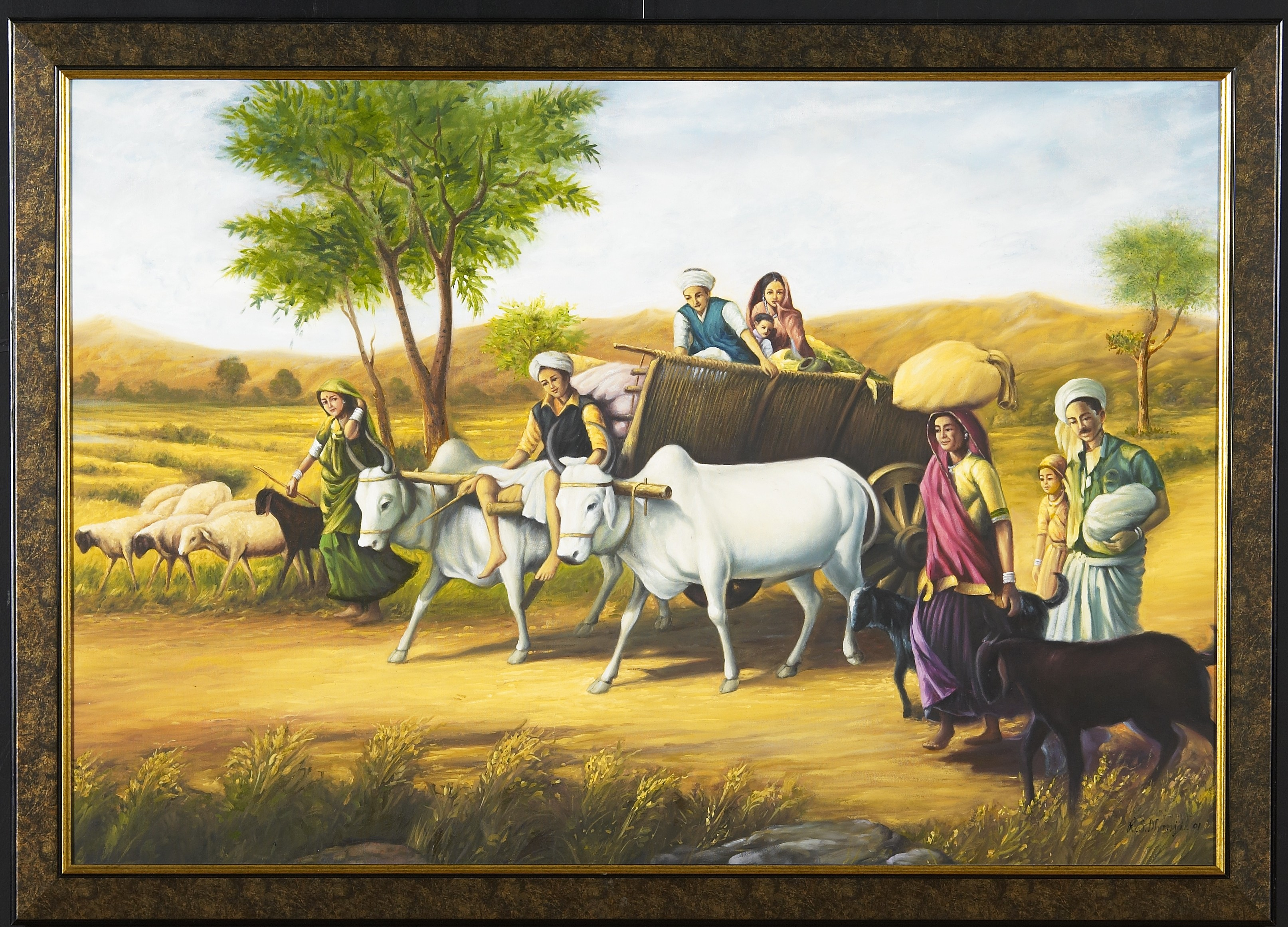 Beautiful Indien Punjabi Girls Wallpaper Museum Style Paintings By R S Dhanjal