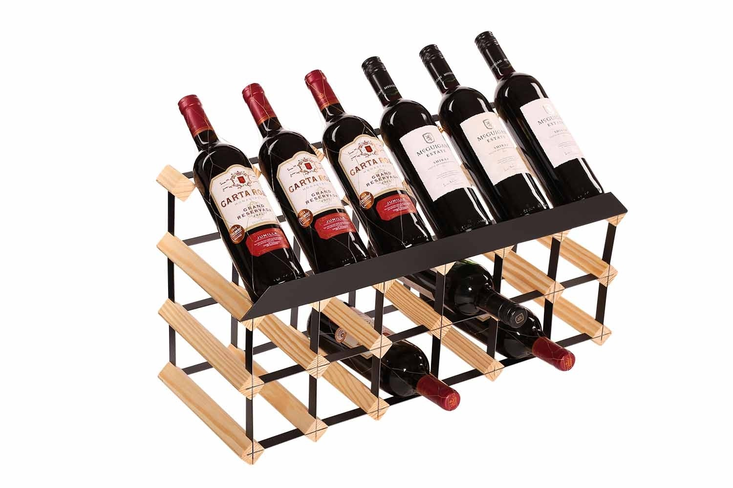 Other Uses For Wine Racks 18 Bottle Traditional Display Wine Rack 6 X 3