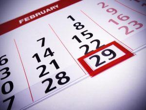 Leap Year Calendar