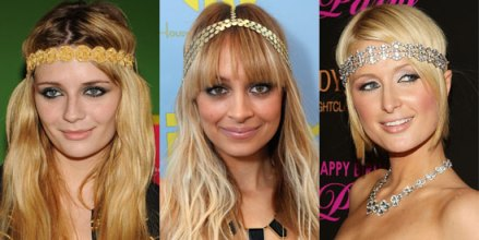 Mischa Barton, Nicole Richie, and Paris Hilton seen wearing Deepa Gurnani.