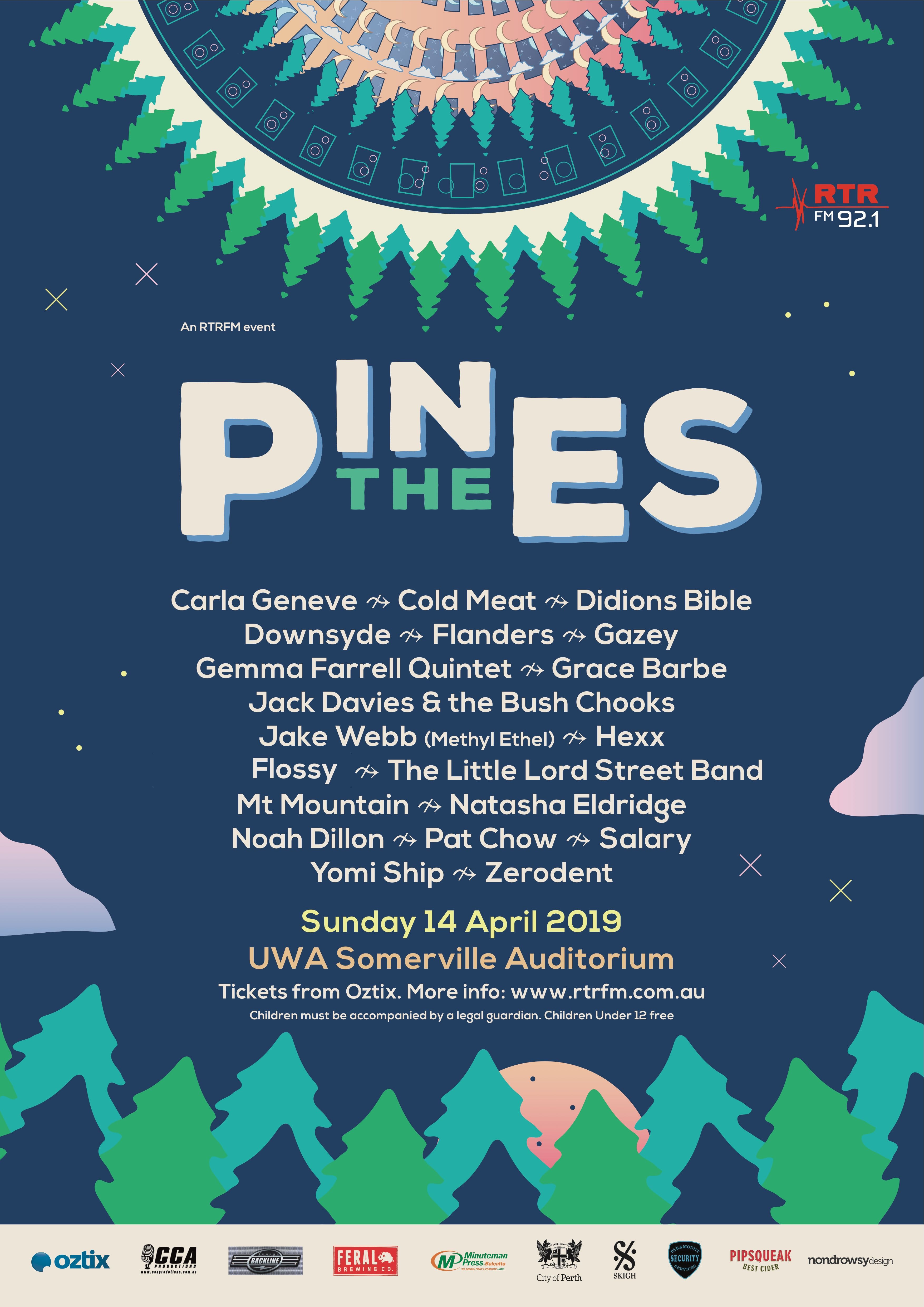 Poster Shop Perth In The Pines 2019 Rtrfm The Sound Alternative