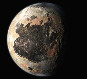Плутон. Компьютерная графика на основе переданных зондом изображений. Фото: NASA