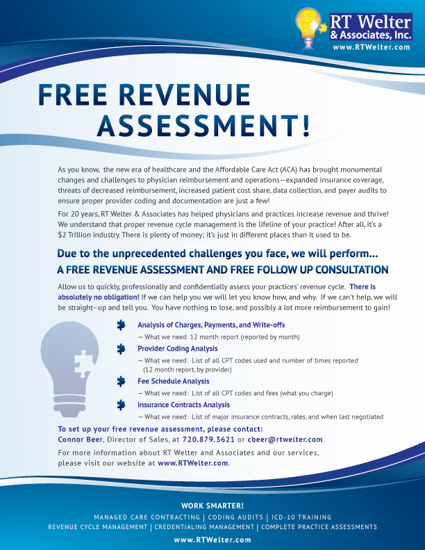 Free Revenue Assessment Available with RT Welter  Associates - RT