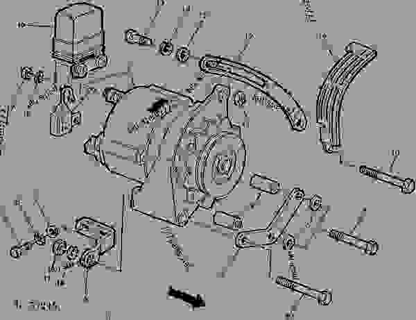 ALTERNATOR, VOLTAGE REGULATOR AND MOUNTING PARTS (ROBERT BOSCH