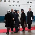 Пассажирский паром «Victoria», на котором прибыли глава Эстонского государства и его супруга