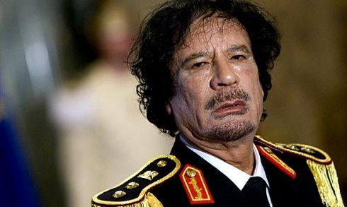 Лидер ливийской революции Муаммар Каддафи