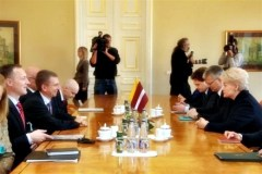 Встреча Президента Дали Грибаускайте с министром иностранных дел Латвии Эдгарсом Ринкевичсом