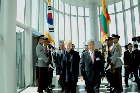 Президент Литовской Республики Даля Грибаускайте встретилась с Генеральным директором Международного агентства по атомной энергии (МАГАТЭ) Юкией Амано