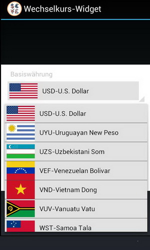 Forex ticker widget android