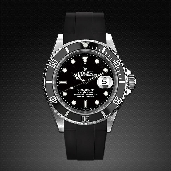 Strap For Rolex Submariner Classic Series Rubber B