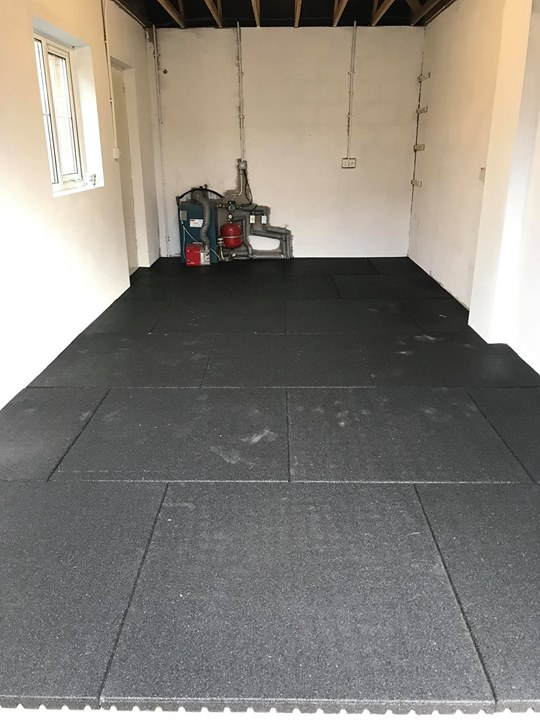 43 Mm Rubber Flooring Install For A Customer In Antrim In
