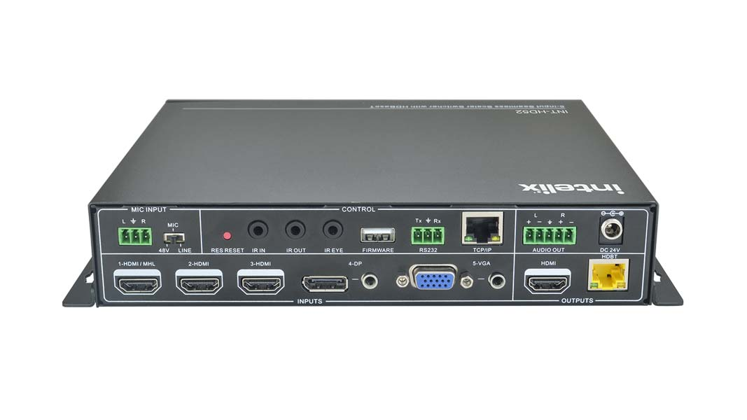INT-HD52 - 5x1+1 Auto Switching/Scaling Presentation Switch With
