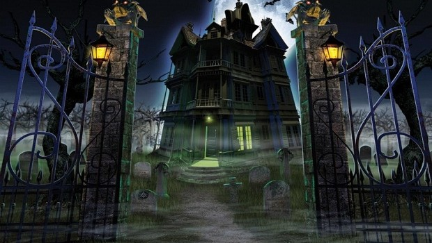 Ghost House Wallpaper Hd 3d Halloween Haunted Houses Decorative Edition Ruby Skye Pi